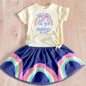 Toystory Disney RainbowFriend Tshirt w/Navyskirt🌈